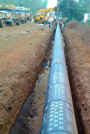 Pipe laying